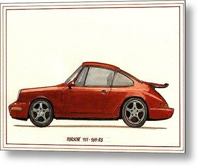 Porsche 911 964 Rs Metal Print by Juan  Bosco