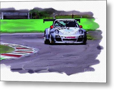 Porsche 911 Gt3 Metal Print by Roger Lighterness