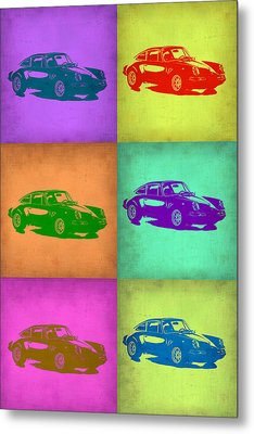 Porsche 911 Pop Art 2 Metal Print