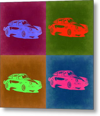 Porsche 911 Pop Art 3 Metal Print