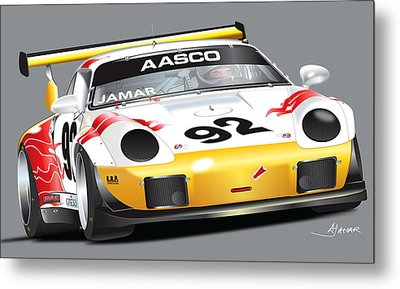 Porsche 911 Turbo Custom Metal Print