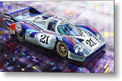 Porsche 917 Lh Larrousse Elford 24 Le Mans 1971 Metal Print by Yuriy  Shevchuk