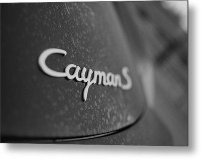 Standing Porsche Cayman S Metal Print by Miguel Winterpacht