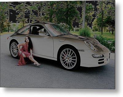 Porsche Chromatic Metal Print by Paul Wash
