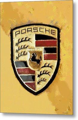 Metal Print featuring the digital art Porsche Heritage by Kai Saarto