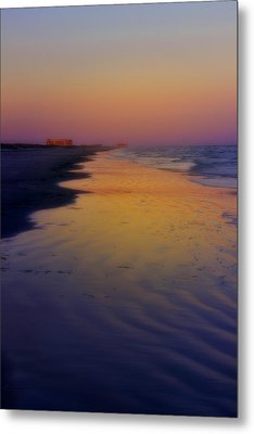 Metal Print featuring the photograph Port Aransas Sunset by Ellen Heaverlo