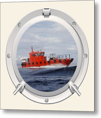 Port Hole View Metal Print by Roy  McPeak