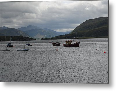 Metal Print featuring the photograph Port In Scotland by Karen Kersey