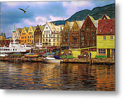 Port Life - Paint Metal Print by Steve Harrington