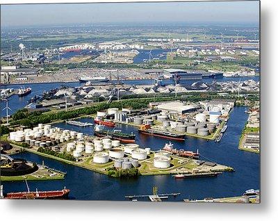 Port Of Amsterdam, Amsterdam Metal Print by Bram van de Biezen