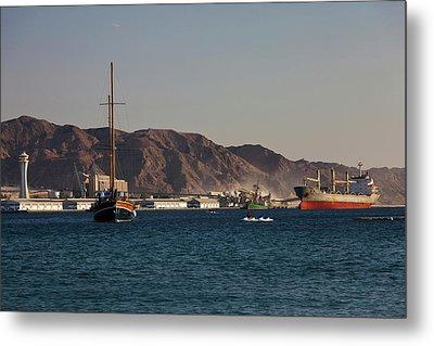 Port Of Aqaba, Aqaba, Jordan Metal Print