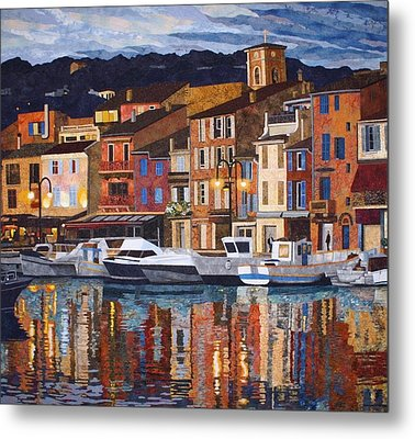 Port Of Cassis Metal Print by Lenore Crawford