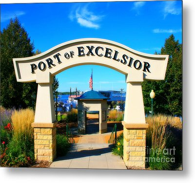 Port Of Excelsior Metal Print by Perry Webster