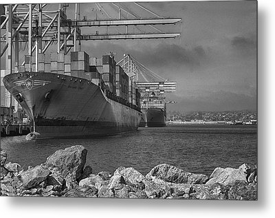 Port Of Long Beach Metal Print by Joseph Hollingsworth