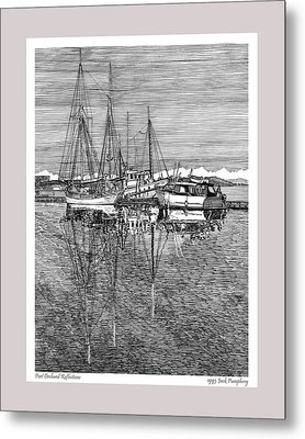 Reflections Of Port Orchard Washington Metal Print