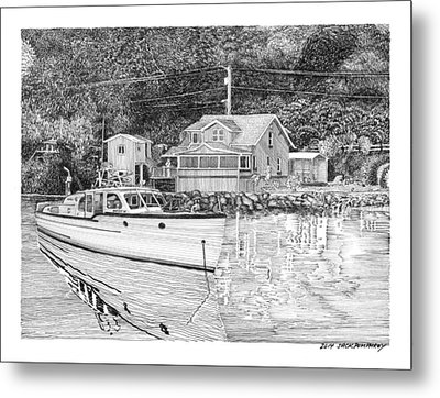 Port Orchard Washington Waterfront Home Metal Print