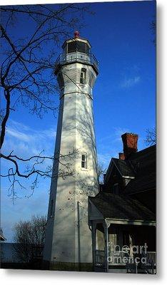 Port Sanilac Lighthouse Metal Print by Kathy DesJardins