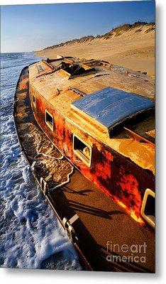 Port Side Down Captain - Outer Banks Metal Print by Dan Carmichael