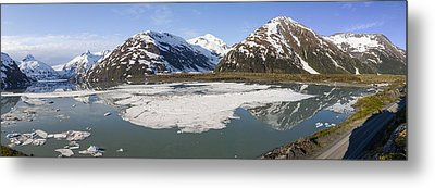 Portage Lake Panorama Metal Print by Tim Grams