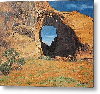 Portal At Window Rock  Metal Print