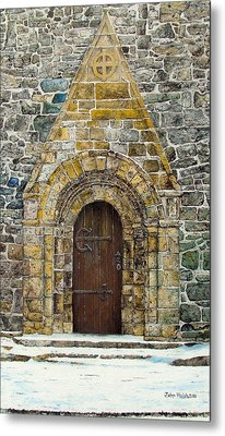Portal Of St. Lachtain Metal Print by John Walsh