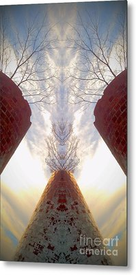 Metal Print featuring the photograph Portal Of The Silos by Karen Newell