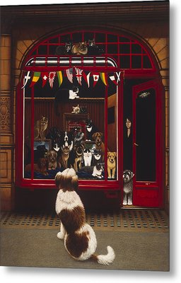 Portal Pet Show, 1993 Oils & Tempera On Panel Metal Print by Frances Broomfield