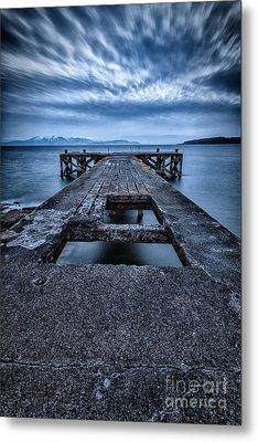 Portencross Pier  Metal Print by John Farnan