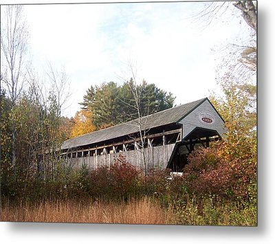 Porter Covered Bridge Metal Print by Catherine Gagne