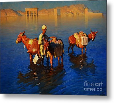 Porter Near The Island Of Philae Metal Print by Celestial Images