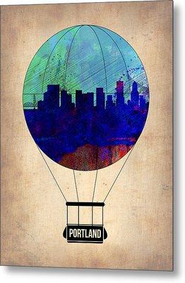 Portland Air Balloon Metal Print by Naxart Studio