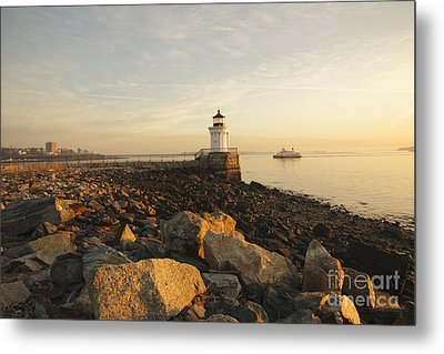 Portland Breakwater Light - Portland Maine Metal Print by Erin Paul Donovan