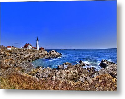 Portland Head Light 4 Metal Print by Joann Vitali