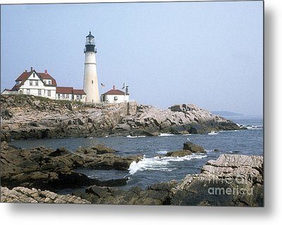 Metal Print featuring the photograph Portland Head Light by ELDavis Photography