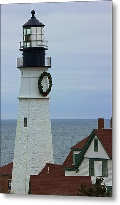 Metal Print featuring the photograph Portland Head Lighthouse by Amazing Jules