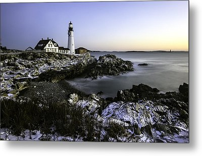 Portland Head Lighthouse At Dawn Metal Print by Betty Denise