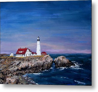 Portland Head Lighthouse Metal Print by Jack Skinner