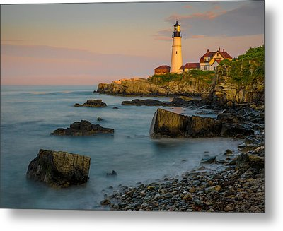 Metal Print featuring the photograph Portland Head Lighthouse by Steve Zimic