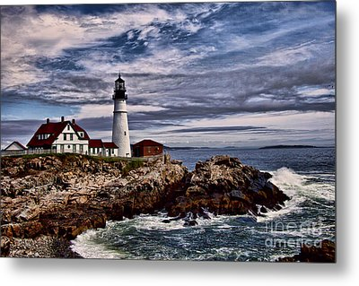 Portland Head Metal Print by Shirley Mangini
