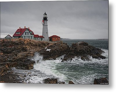 Portland Headlight @ Christmas Metal Print
