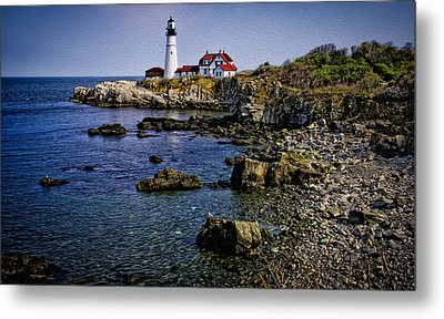 Portland Headlight 37 Oil Metal Print by Mark Myhaver