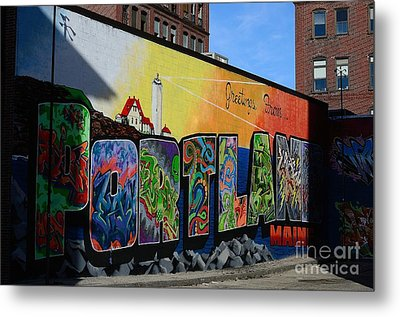Metal Print featuring the photograph Portland by Paul Noble