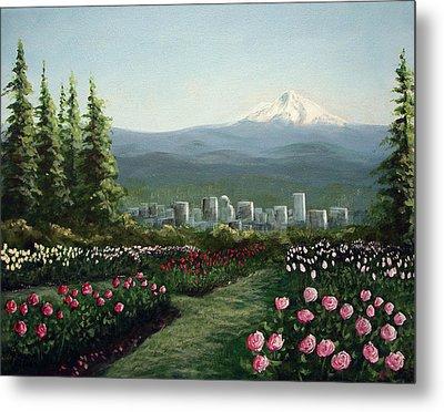 Portland Rose Garden Metal Print by Kenny Henson