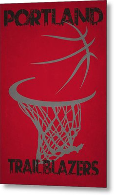 Portland Trail Blazers Hoop Metal Print by Joe Hamilton