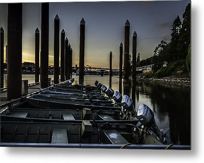 Portland Waterfront Metal Print by Jean-Jacques Thebault