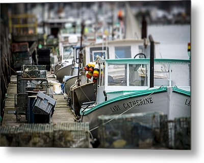 Portland Working Waterfront Metal Print by Dave Cleaveland