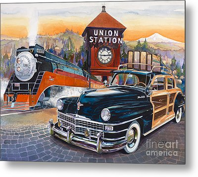 Portland's Union Station Metal Print by Mike Hill