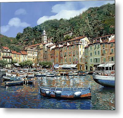Portofino Metal Print by Guido Borelli