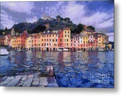 Portofino In Italy Metal Print by George Atsametakis