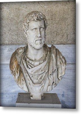 Portrait Bust Of The Emperor Antoninus Plus Metal Print by Radoslav Nedelchev